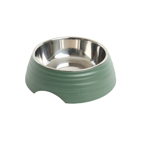 Picture of BOWL BUSTER 2-IN-1 MELAMINE Frosted Ripple Dusty Green - 160ml