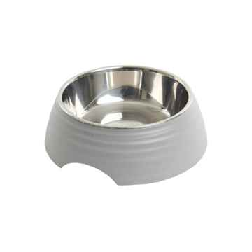Picture of BOWL BUSTER 2-IN-1 MELAMINE Frosted Ripple Matte Grey - 350ml