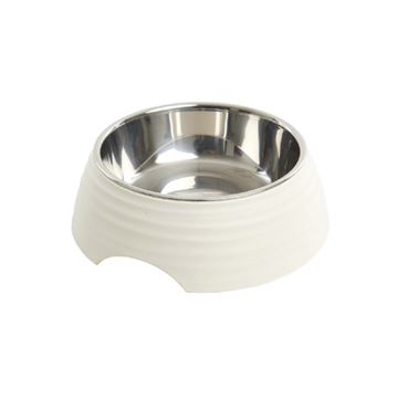 Picture of BOWL BUSTER 2-IN-1 MELAMINE Frosted Ripple Matte White - 350ml