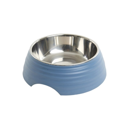 Picture of BOWL BUSTER 2-IN-1 MELAMINE Frosted Ripple Dusty Blue - 350ml