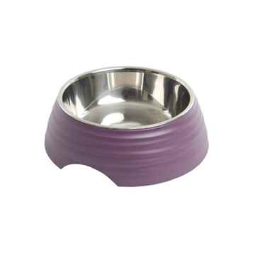 Picture of BOWL BUSTER 2-IN-1 MELAMINE Frosted Ripple Dusty Purple - 350ml
