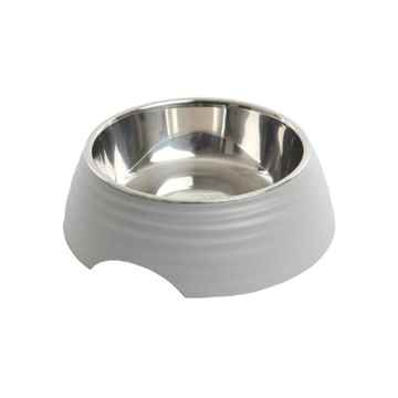 Picture of BOWL BUSTER 2-IN-1 MELAMINE Frosted Ripple Matte Grey - 700ml