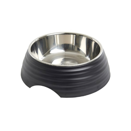Picture of BOWL BUSTER 2-IN-1 MELAMINE Frosted Ripple Matte Black - 700ml