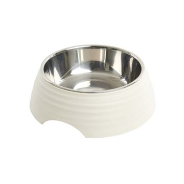 Picture of BOWL BUSTER 2-IN-1 MELAMINE Frosted Ripple Matte White - 700ml