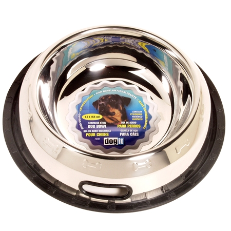 Picture of BOWL Dogit Stainless Steel Non Spill  Extra Large (73505) - 64oz