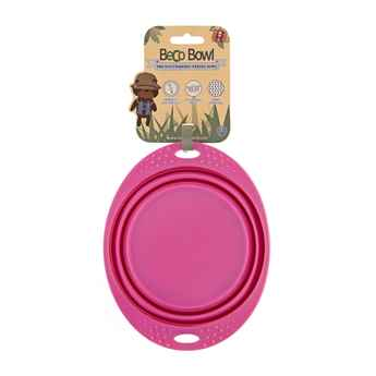 Picture of BOWL SILICONE TRAVEL BOWL Pink - 0.75 liters
