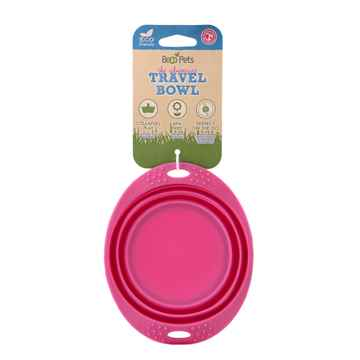 Picture of BOWL SILICONE TRAVEL BOWL Pink - 0.38 liters