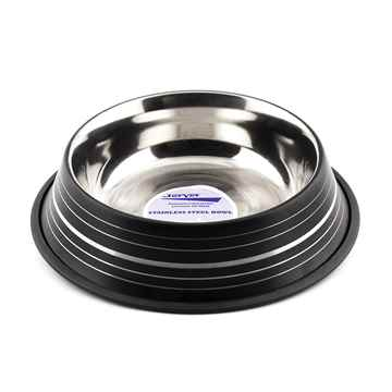 Picture of BOWL SS FASHION ANTI SKID Black (J0804SB) - 64oz