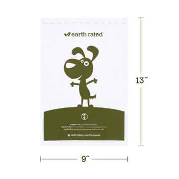Picture of PET WASTE EARTH RATED PoopBags Compostable 9x13in NS - 4 rollsx15bags
