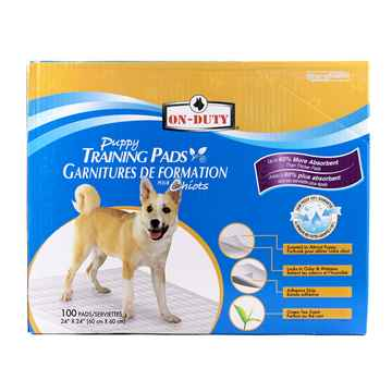 Picture of TRAINING PADS ON DUTY PUPPY PADS 24in x 24in - 100/box