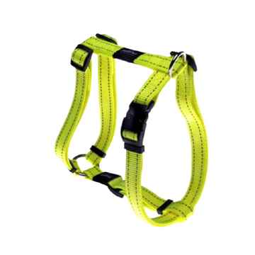 "Picture of HARNESS ROGZ UTILITY ""H"" HARNESS SNAKE Yellow - Medium(tu)"
