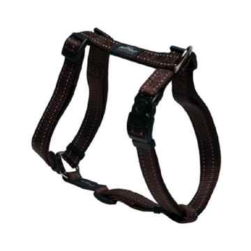 "Picture of HARNESS ROGZ UTILITY ""H"" HARNESS LUMBERJACK Chocolate - X Large(tu)"