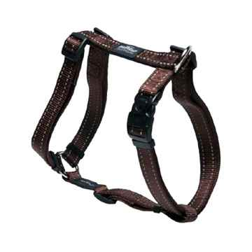 "Picture of HARNESS ROGZ UTILITY ""H"" HARNESS NITELIFE Chocolate - Small(tu)"