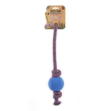Picture of TOY DOG BECO Ball ON-A-ROPE Large - Blue