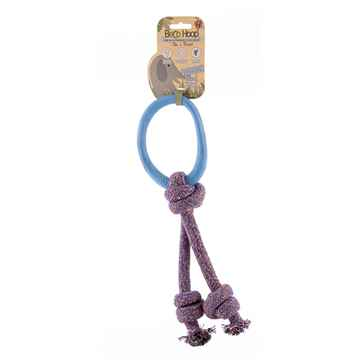 Picture of TOY DOG BECO HOOP ON-A-ROPE Small - Blue