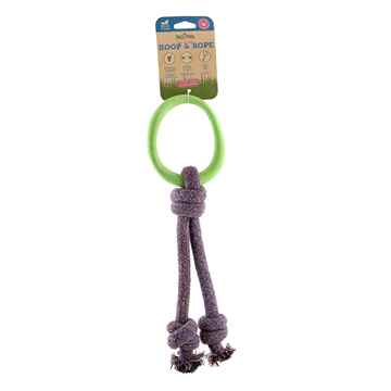 Picture of TOY DOG BECO HOOP ON-A-ROPE Small - Green