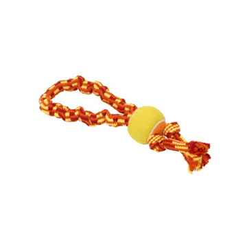 Picture of TOY DOG BUSTER Bungee Double Knot with Tennis Ball Orange/Red