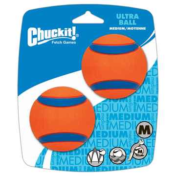 Picture of TOY DOG CHUCKIT ULTRABALL Rubber Medium - 2/pk