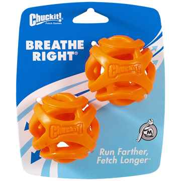 Picture of TOY DOG CHUCKIT Breath Right Fetch Ball Medium - 2/pk