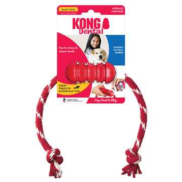 Picture of TOY DOG KONG Dental with Rope - Small