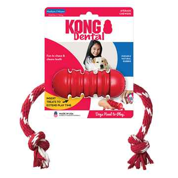 Picture of TOY DOG KONG Dental with Rope - Medium