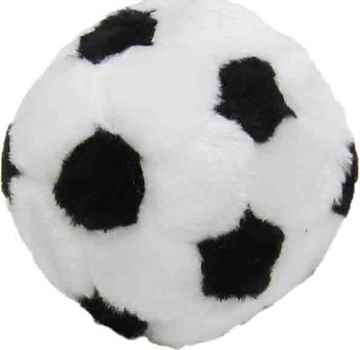 Picture of TOY DOG PLUSH SOCCER BALL (43715) - 10cm