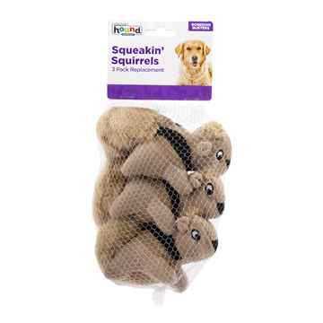 Picture of TOY DOG OH HIDE A TOY SQUEAKN ANIMAL Repl SQUIRREL-3/pk