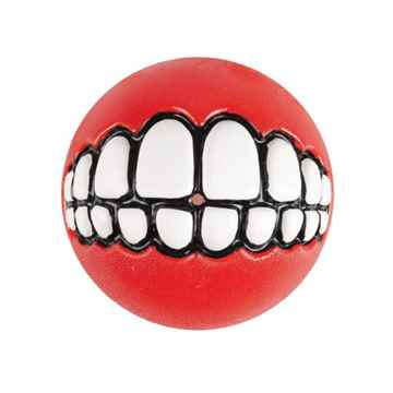 Picture of TOY DOG ROGZ GRINZ BALL 2in - Red