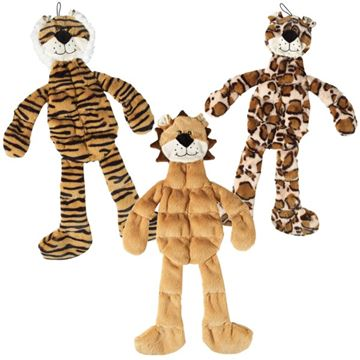 Picture of TOY DOG SPOT SKINNEEEZ TONS-O-SQUEAKERS Jungle Cat Assorted - 18in