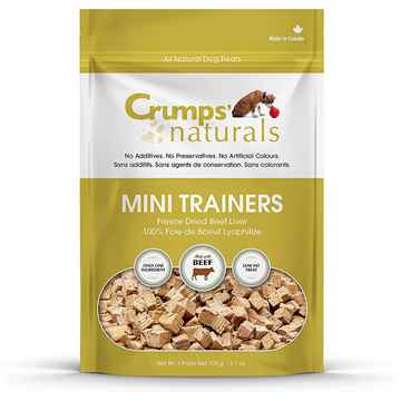 Picture of CRUMPS DOG MINI TRAINERS FREEZE DRIED BEEF LIVER - 3.7oz