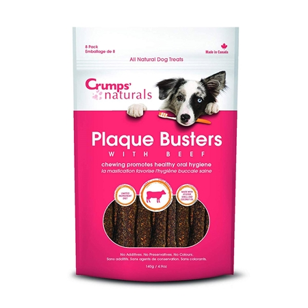 Picture of CRUMPS NATURALS DOG PLAQUE BUSTERS Beef 7in  - 8/pk