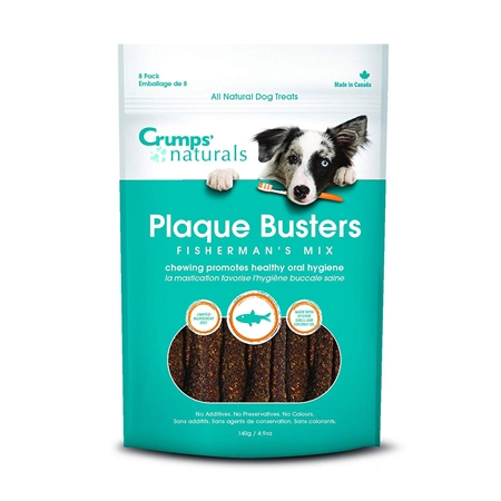 Picture of CRUMPS NATURALS DOG PLAQUE BUSTERS Fishermans Mix 7in  - 8/pk