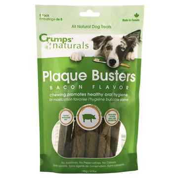 Picture of CRUMPS NATURALS DOG PLAQUE BUSTERS Bacon 7in  - 8/pk