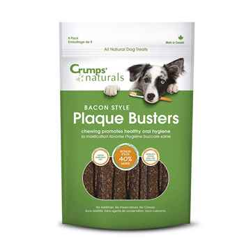 Picture of CRUMPS NATURALS DOG PLAQUE BUSTERS Bacon 4.5in - 8/pk