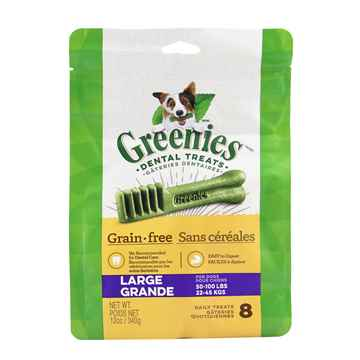 Picture of GREENIE CANINE DENTAL TREAT GRAIN FREE  12oz  Large - 8/bag