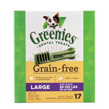 Picture of GREENIE CANINE DENTAL TREAT GRAIN FREE  27oz  Large - 17/box