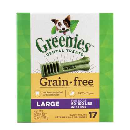 Picture of GREENIE CANINE DENTAL TREAT GRAIN FREE  27oz  Large - 17/box