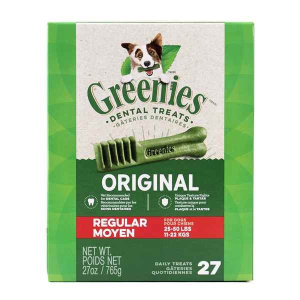 Picture of GREENIE CANINE DENTAL TREAT ORIGINAL 27oz MONSTER PAK Regular - 27/tub
