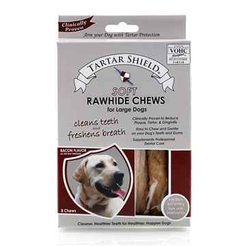 Picture of TARTAR SHIELD SOFT RAWHIDE CHEW - LARGE 8 chews/carton