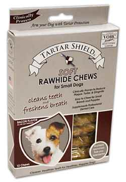 Picture of TARTAR SHIELD SOFT RAWHIDE CHEW - SMALL 12 chews/carton