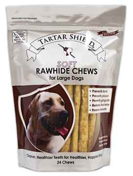 Picture of TARTAR SHIELD SOFT RAWHIDE CHEW - LARGE 24 count POUCH