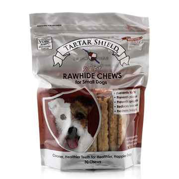Picture of TARTAR SHIELD SOFT RAWHIDE CHEW - SMALL 30 count POUCH