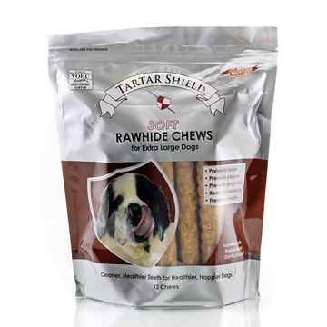 Picture of TARTAR SHIELD SOFT RAWHIDE CHEW - XLARGE 12 count POUCH