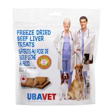 Picture of UBAVET FREEZE DRIED BEEF LIVER TREATS - 200gm