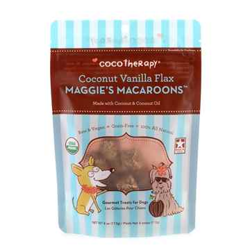 Picture of TREAT CANINE COCOTHERAPY Maggies Macaroons Coconut Vanilla Flax - 4oz