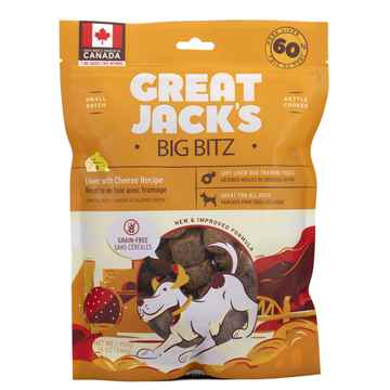Picture of TREAT CANINE GREAT JACKS SOFT&CHEWY BIG BITZ GF PORK LIVER & CHEESE - 14oz