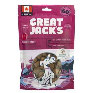 Picture of TREAT CANINE GREAT JACKS SOFT&CHEWY GF PORK LIVER - 7oz