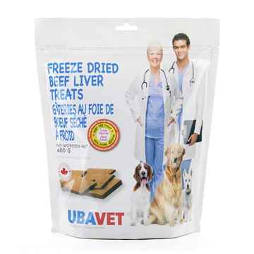 Picture of UBAVET FREEZE DRIED BEEF LIVER TREATS - 400gm