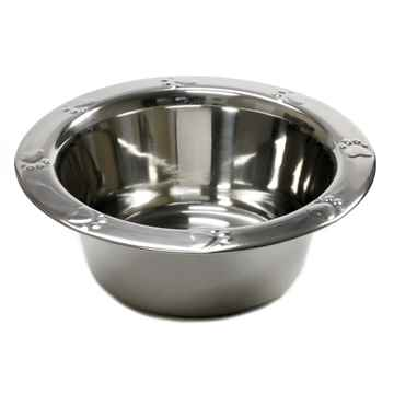 Picture of BOWL SS WIDE RIM PAW EMBOSSED Economy (J0802P) - 32oz