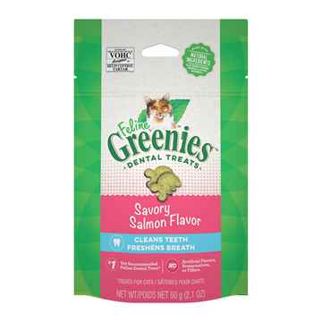Picture of GREENIE FELINE DENTAL TREAT Savory Salmon - 2.1oz / 60g